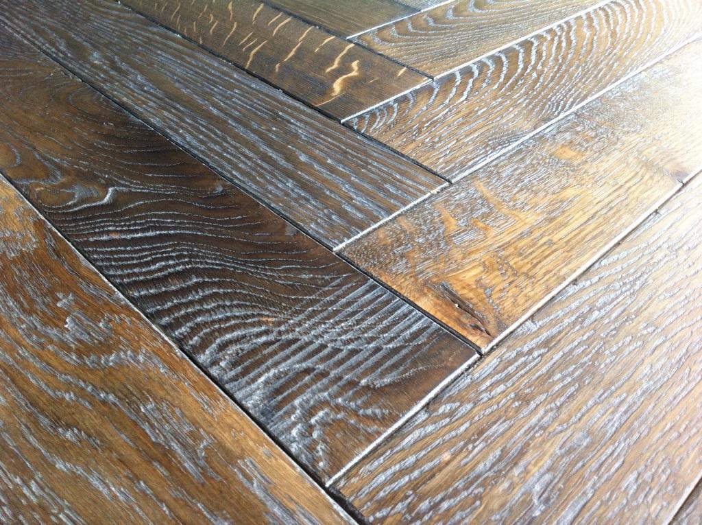 French Oak Herringbone Parquet by Floorwood