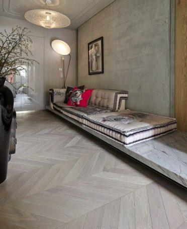 Floorwood French Oak Chevron Parquet custom finish