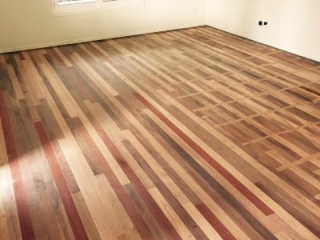 LiteniT Wood Bleaching System. Mixed Hardwood Before Treatment