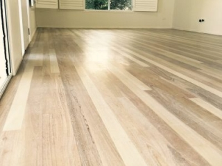 LiteniT Wood Bleaching System. Mixed Hardwood Floor Finished With Woca White Oil