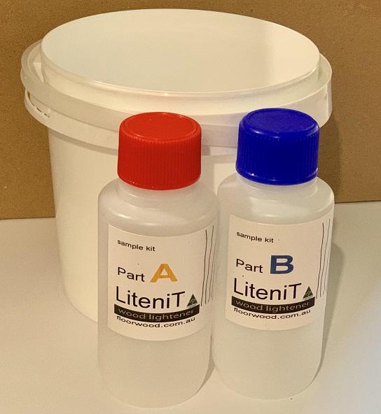 LiteniT wood lightener sample kit