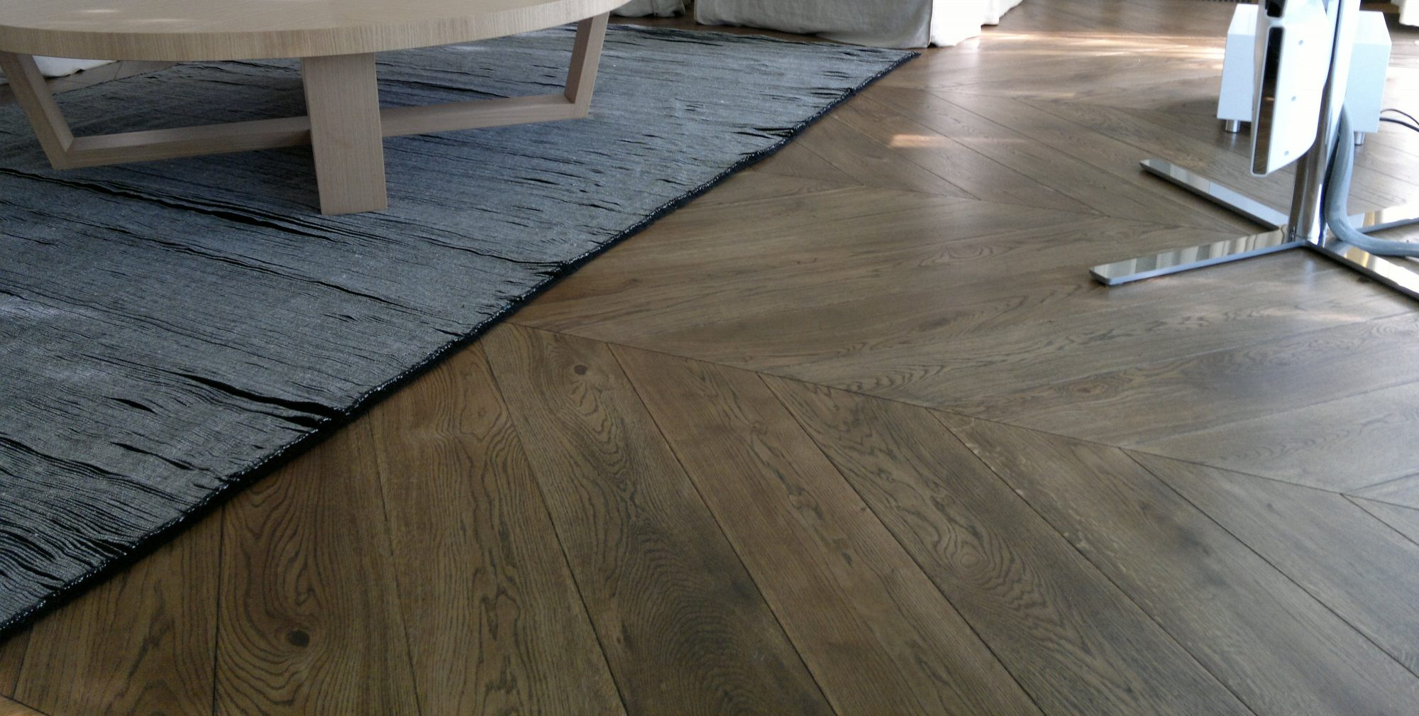 Chevron Parquet Oak Timber Flooring