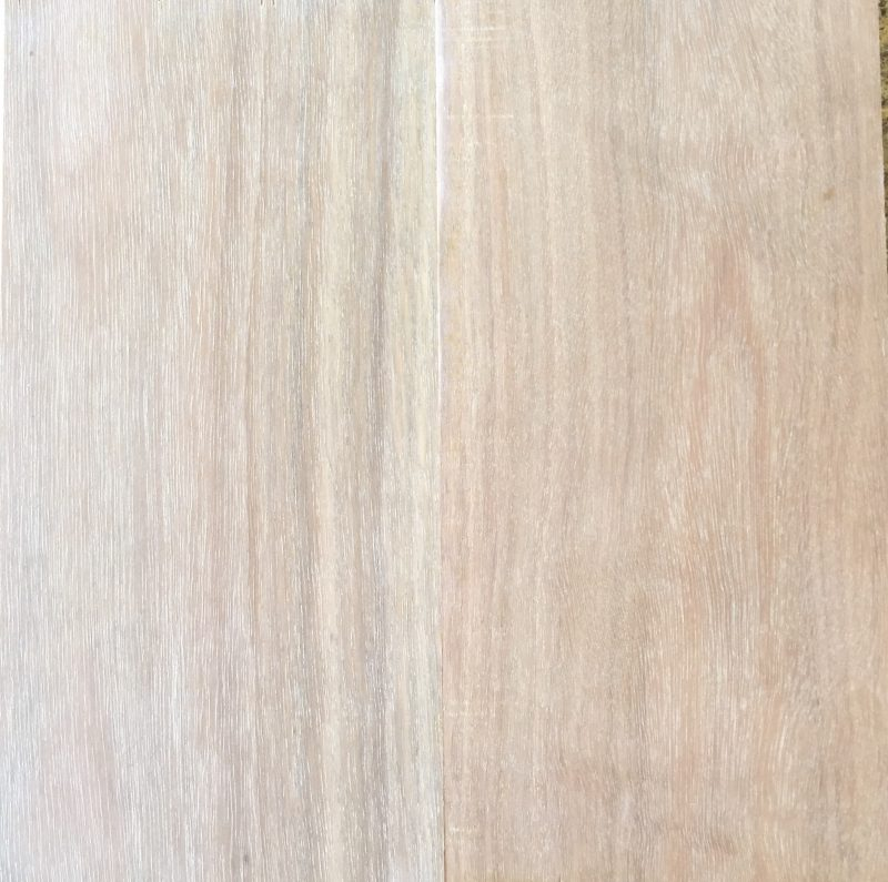 Qld Spotted Gum before & after LiteniT wood bleach