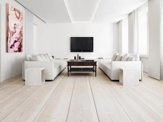 Floorwood bleached, limewashed, Douglas Fir, Oregon wide boards