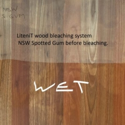 Bleached NSW Spotted Gum before bleaching