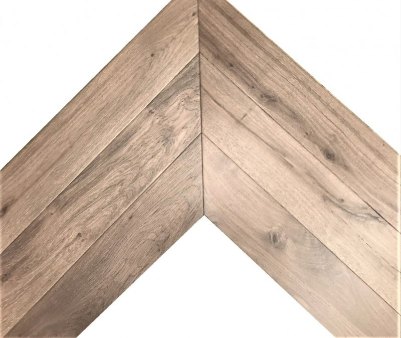 French Oak Chevron Engineered Parquet.Tongue & Groove. Commercial & Residential Use. 150mm wide x 730mm long x 18mm/ 4mm veneer.mm.