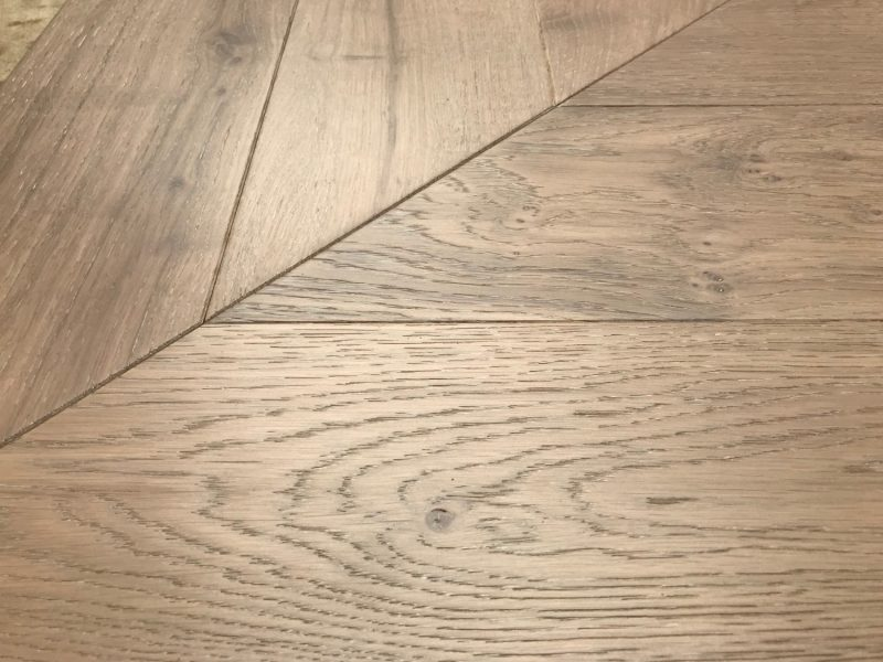 French Oak Chevron Engineered Parquet.Tongue & Groove. Commercial & Residential Use. 150mm wide x 730mm long x 18mm 4mm veneer.mm.