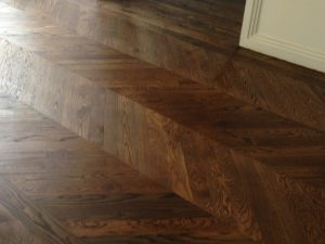 French Solid Oak Chevron Parquet 90.600.14 Brazil Brown UV Oil