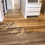 Tas Oak floor being bleached with LiteniT
