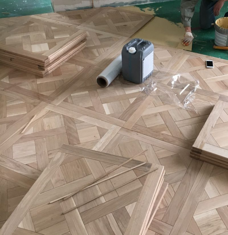 Installing Solid French Oak Versailles Panels