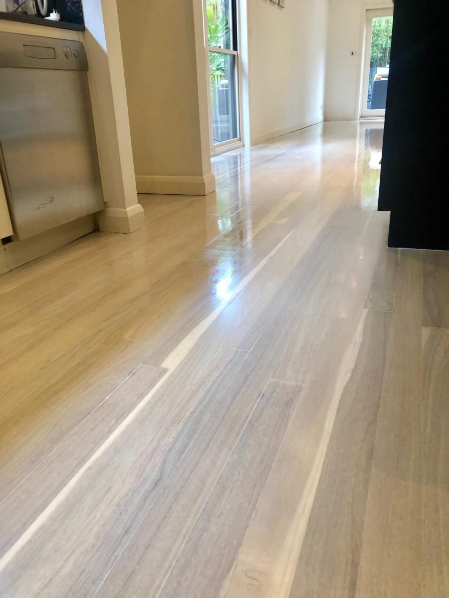 Bluegum flooring bleached with LiteniT in Sydney