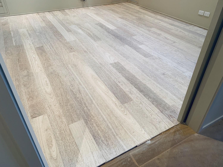 Bleached Merbau flooring.