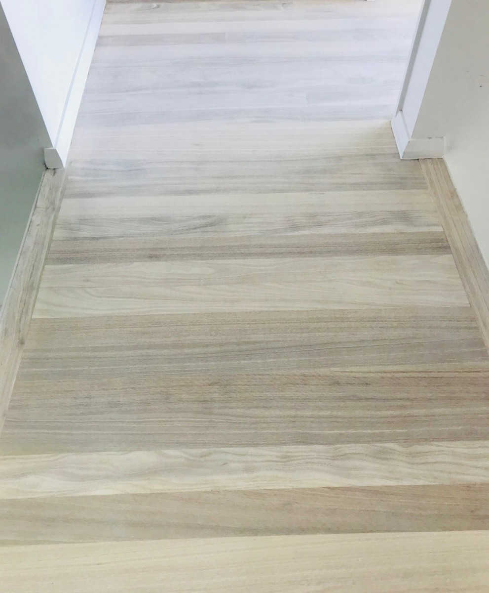 Spotted Gum floor bleached with LiteniT