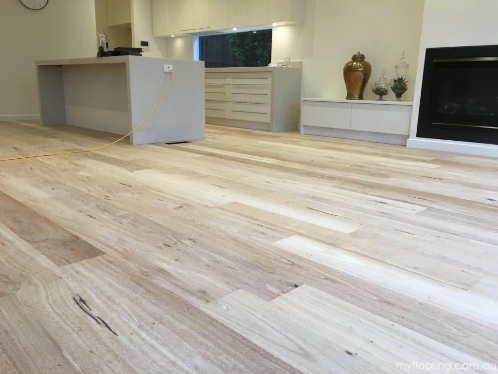 Sydney Bluegum wide board floor bleached with LiteniT