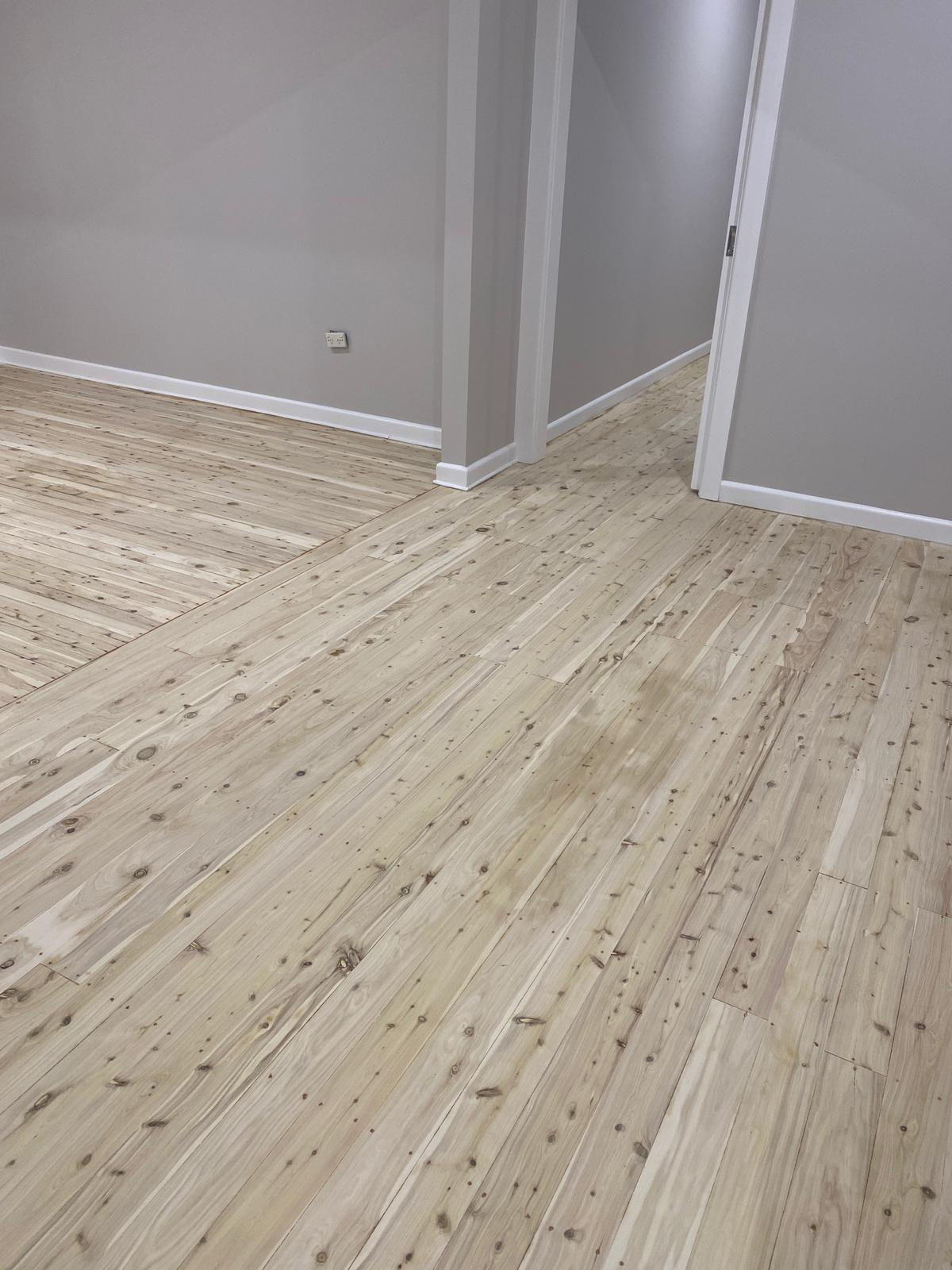 Cypress Pine bleached with LiteniT