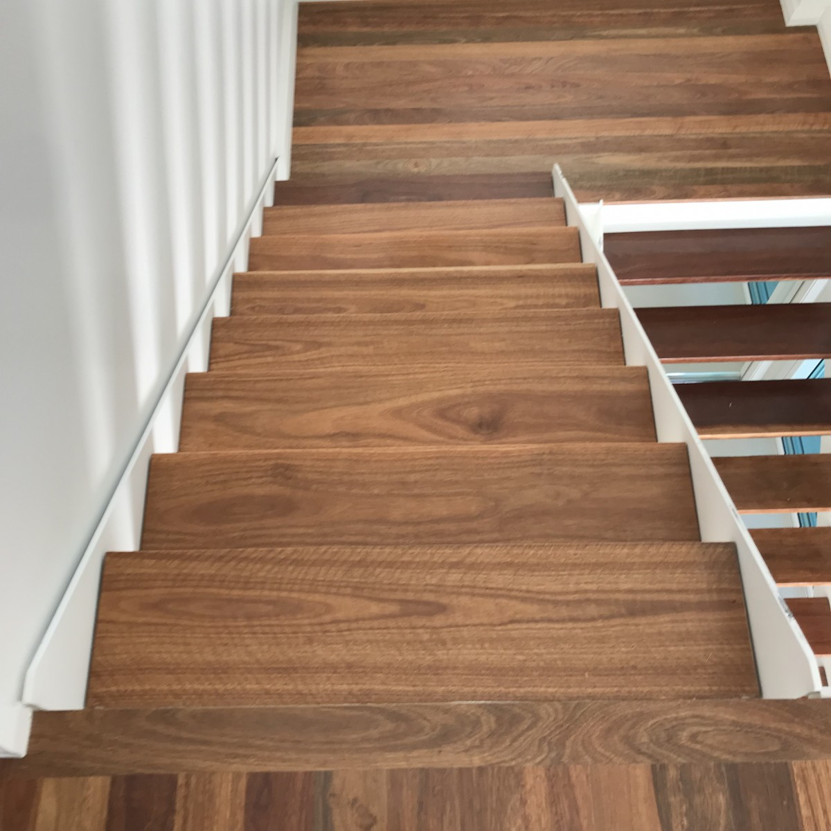 Spotted Gum stairs before LiteniT bleaching